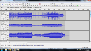 The screenshot (above) presents the soundwaves of the instrumental tracks I selected to recreate the track.
