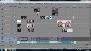 The screenshot (above) displays the layers and organisation of each video used in my remixed product.
