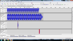 The above screenshot displays the sound waves for my second track appropriately titled 'Terminate'.