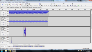 The screenshot (above) pictures the soundwaves for my final track entitled 'Echoes for an Eternity
